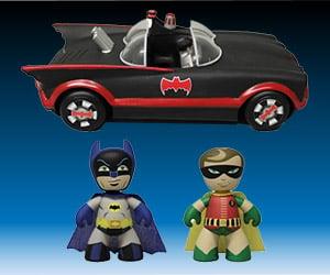 Batman Classic TV Series Mez-Itz and Batmobile