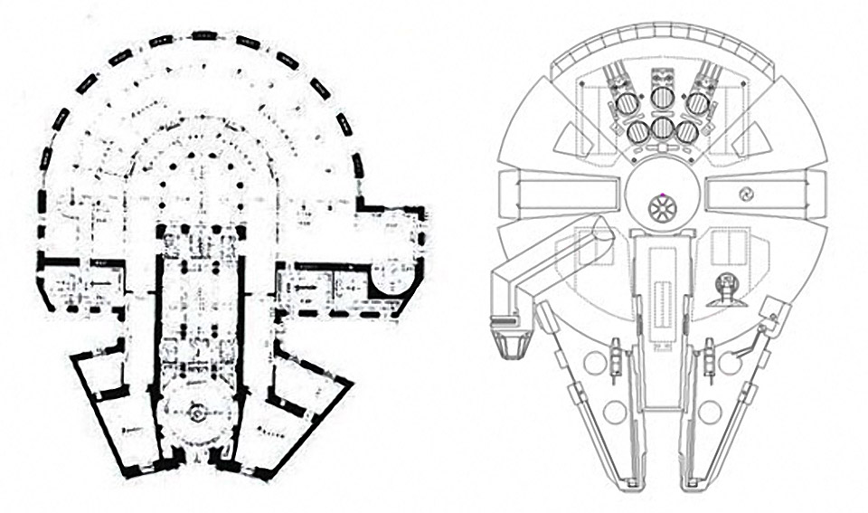 The Millennium Falcon's Architectural Roots?