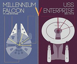The Millennium Falcon v. U.S.S. Enterprise