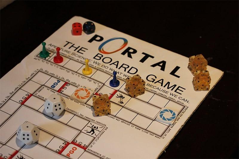 aperture science labs portal board game  mightymega