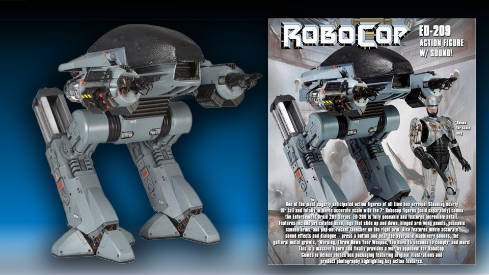 10″ Robocop ED-209 Figure With Sound