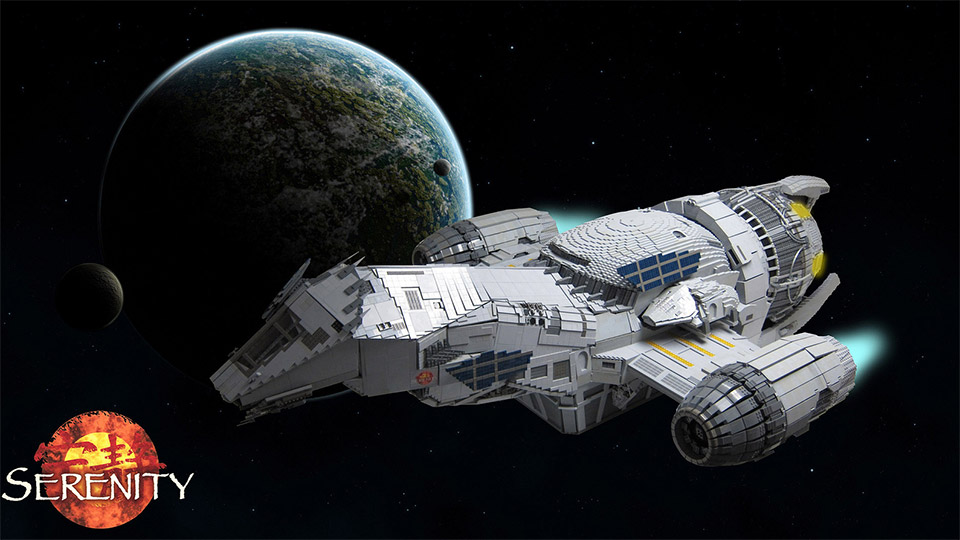 Incredible 7′ Long LEGO Serenity Ship