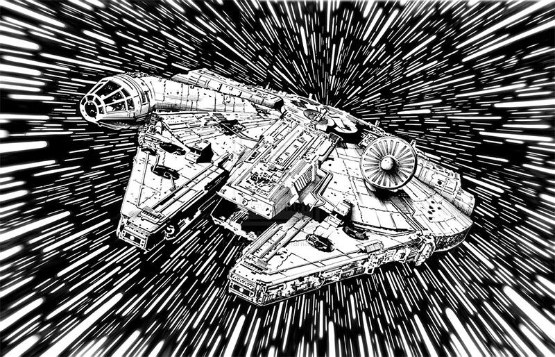 Star Wars White Star_wars_black_and_white_2
