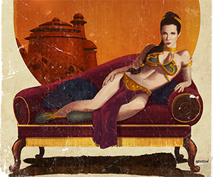 Star Wars Pulp Fiction Cover Art