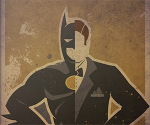 Superheroes and Their True Identity Posters
