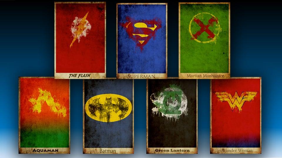 Justice League Retro Movie Posters on Etsy - MightyMega