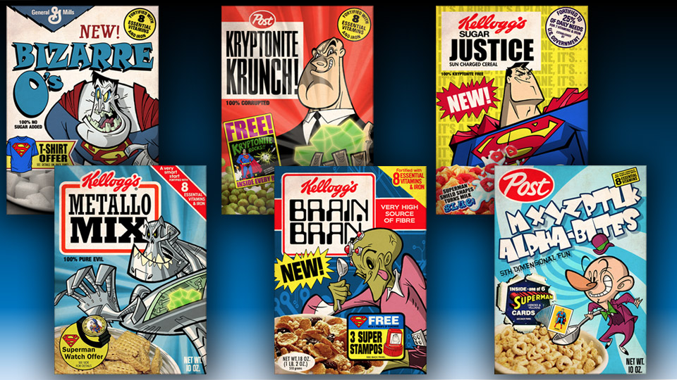 Sweet, Sugary Superman Cereal Boxes