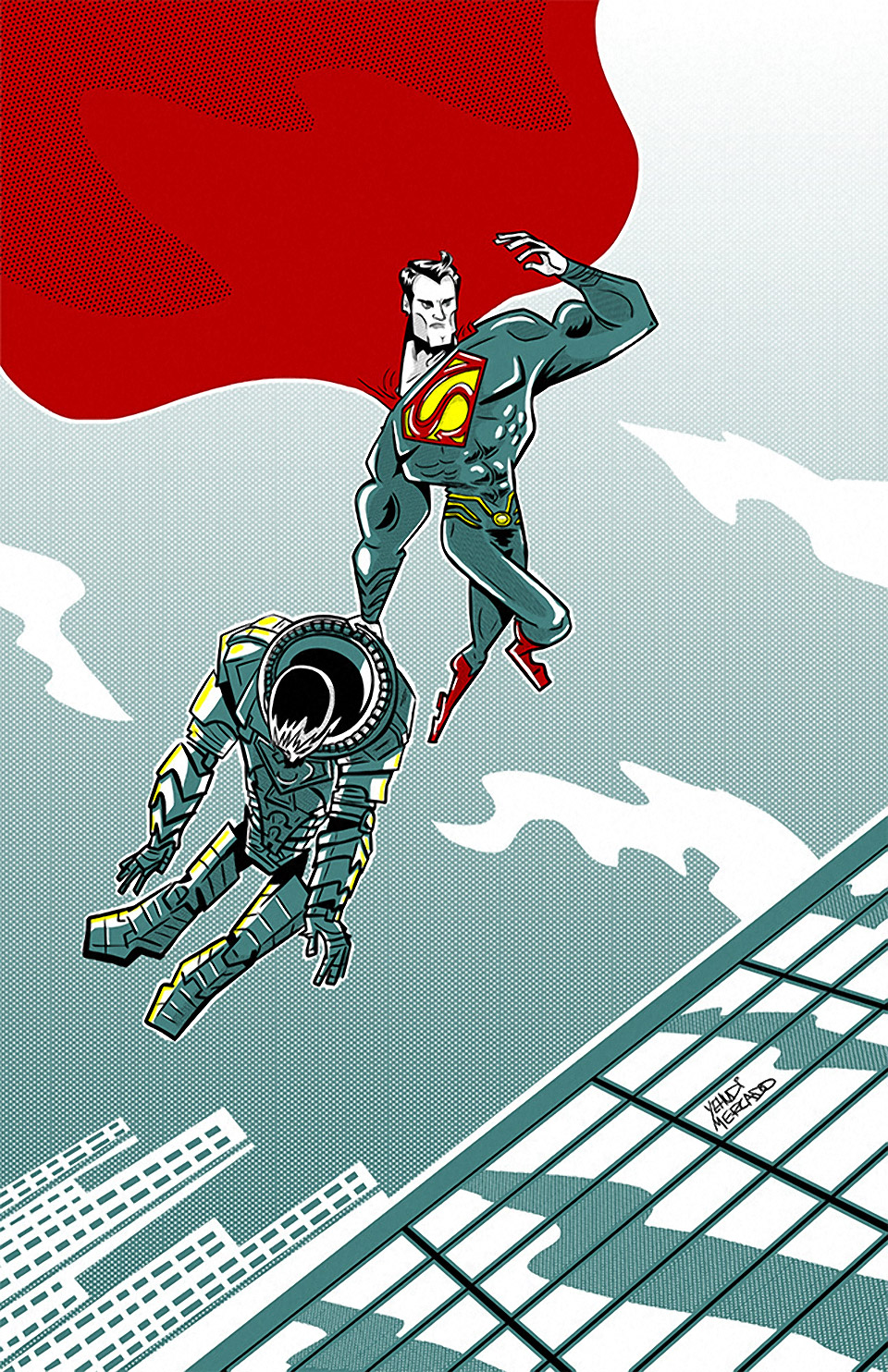 Limited Edition: Superman vs. General Zod Print