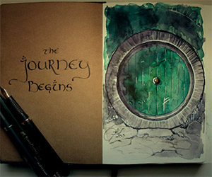 Tolkien Traditional Watercolor Paintings