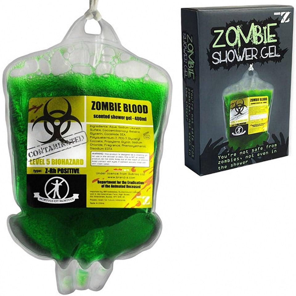 Zombie Blood Shower Gel in Plasma Bag