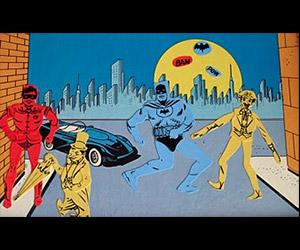 Batman and Robin Colorforms Original Ad