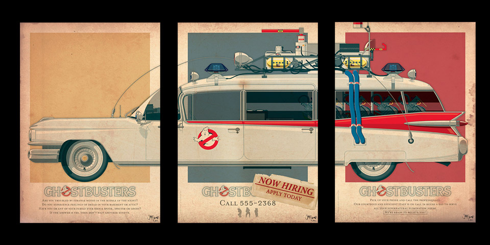Ghostbusters Ecto-1 Vehicle Prints
