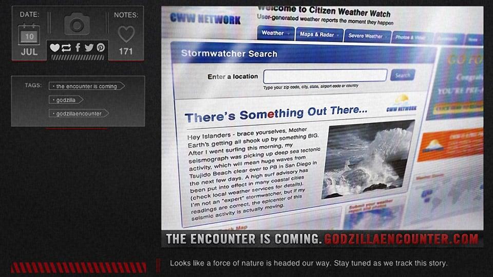 Godzilla Encounter: The Viral Marketing Begins
