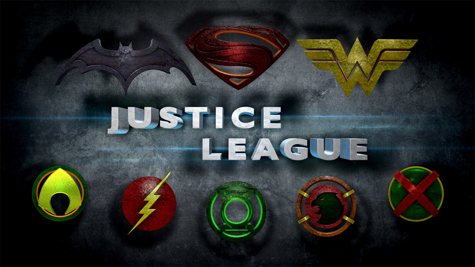 Justice League Logos in Man of Steel Style