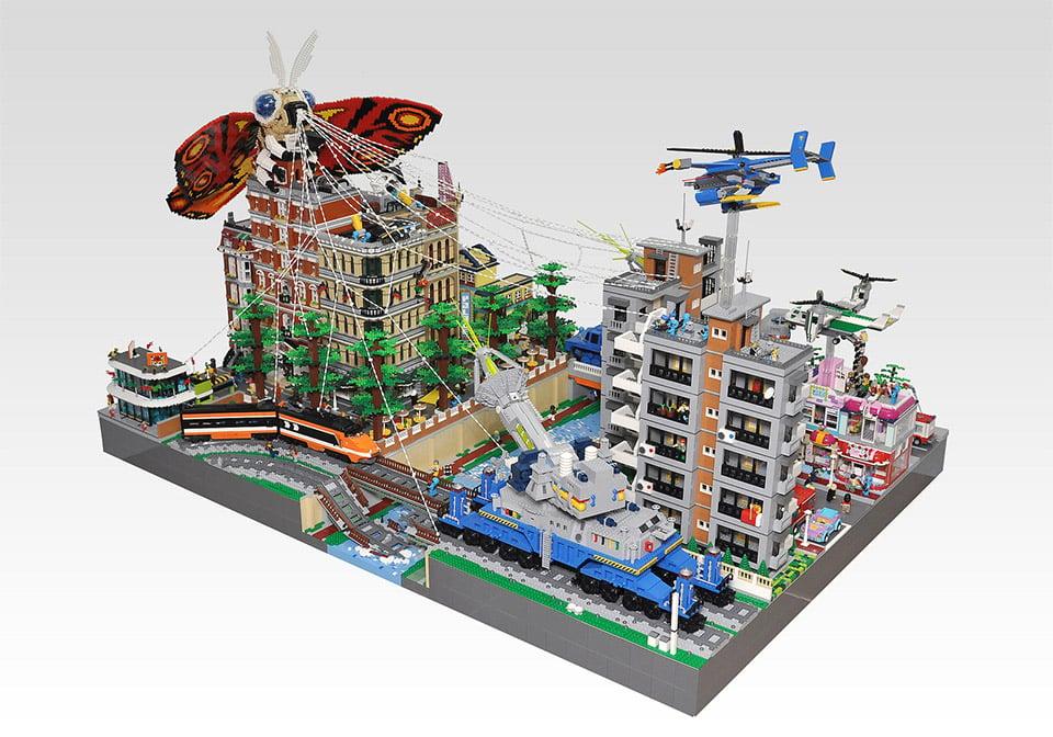 LEGO Mothra Attacks City!