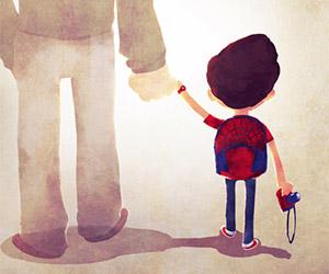 Marvel Parents Walk Their Kids to School