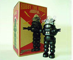 Robby the Robot Black & White Die-Cast Figure