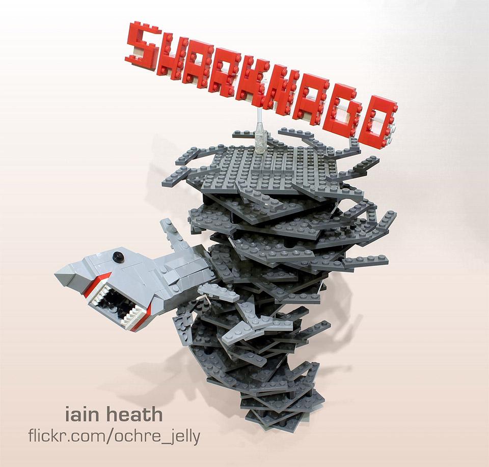 Epic Sharknado LEGO Sculpture
