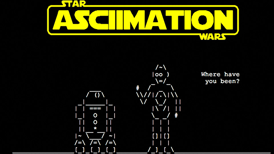 Star Wars Episode IV: ASCII-mation