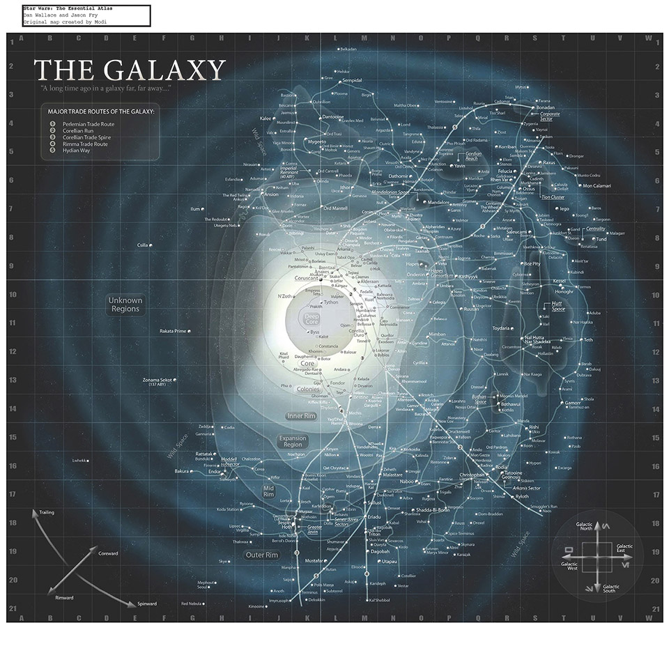 Complete Star Wars Galaxy Map
