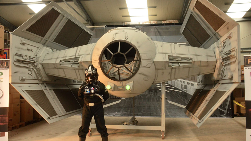 Awesome Half-Scale Darth Vader TIE Fighter
