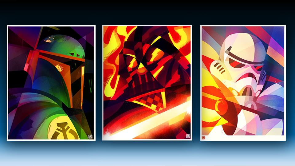Star Wars Helmet Illustrations