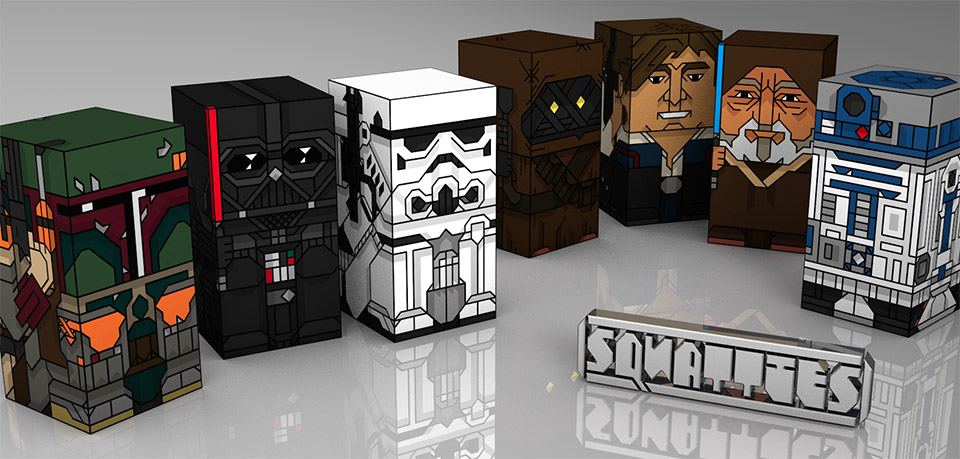 DIY Star Wars Squatties Collection