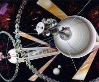 Cylindrical Colony: Exterior View. Rick Guidice.