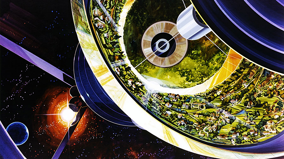 Stunning Space Colony Concept Art from the 1970s