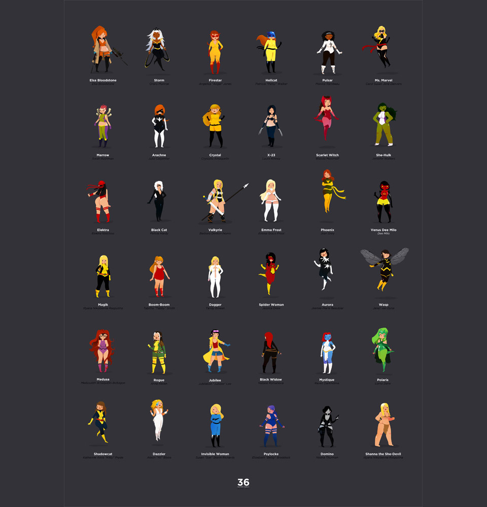 36 Supergirls: Illustration by Renaud Forestié