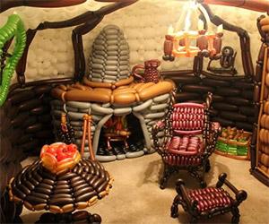 Bag End: Bilbo's Home Made with Balloons