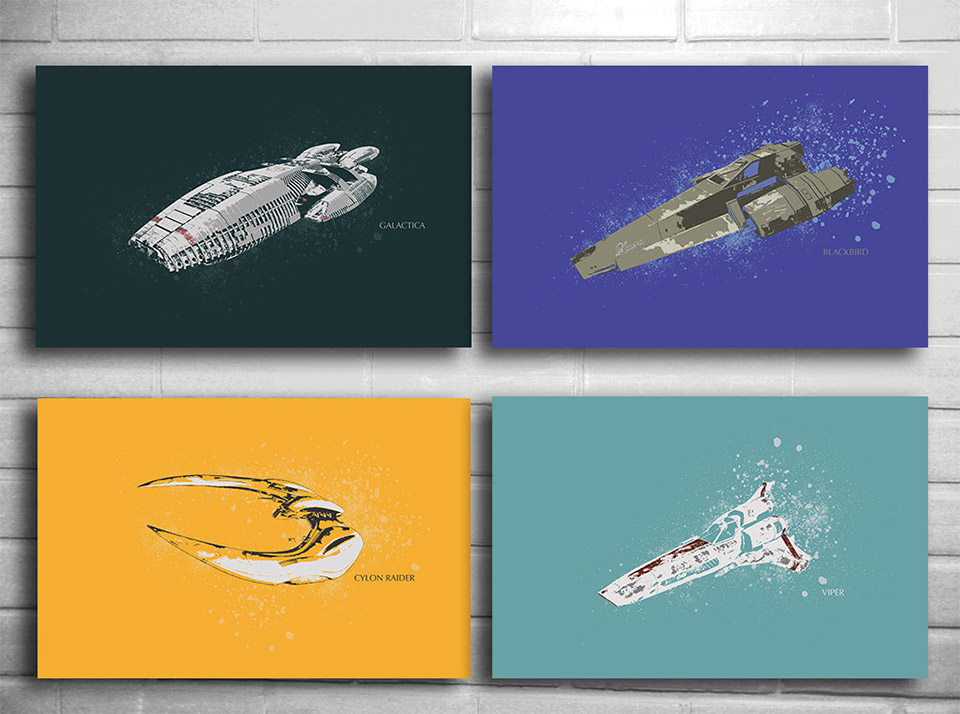Battlestar Galactica Print Series on Etsy