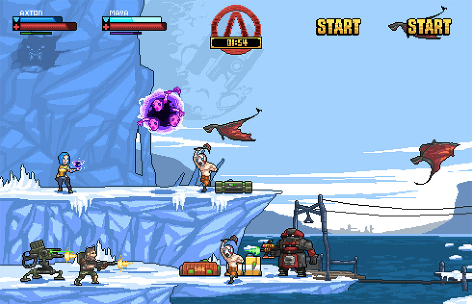 Pixelated 16-Bit Borderlands Vault Hunters