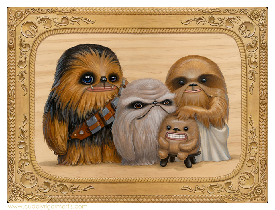Chewbacca Family: A Kaapauku Life Day Portrait