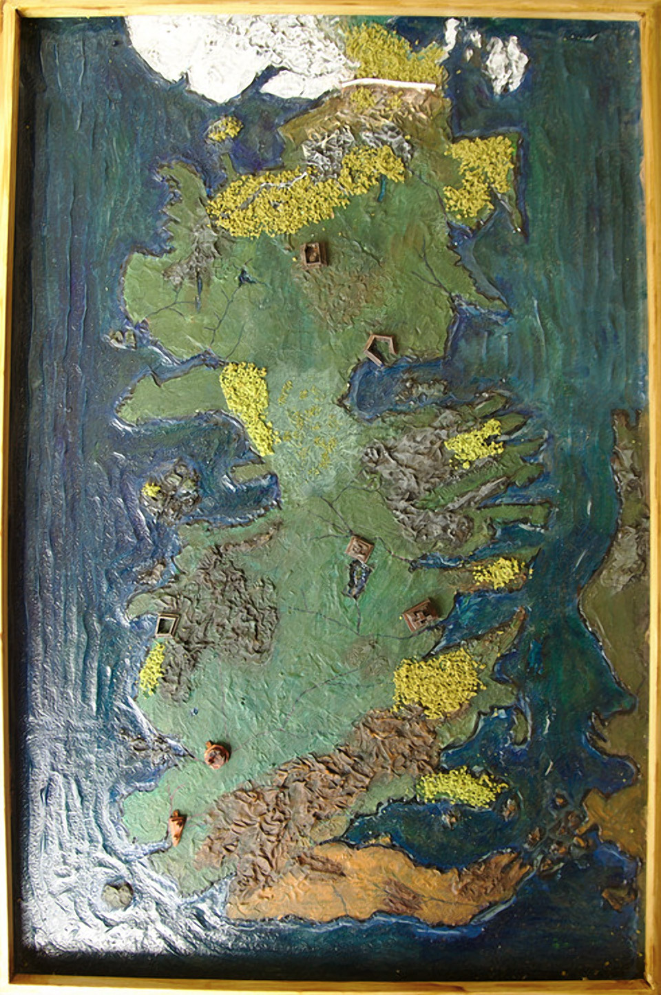 Game of Thrones: Handmade 3D Map of Westeros