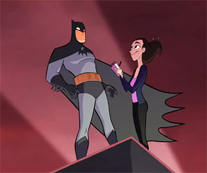 Lois Lane Attempts to Interview Batman