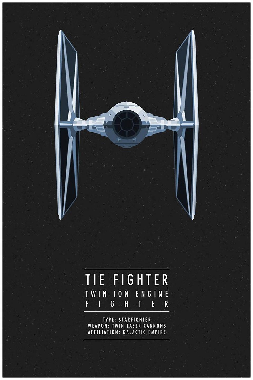 Minimalist Star Wars Ships Poster Set