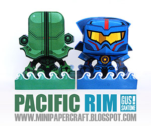 Mini Papercraft Pacific Rim Jaegers