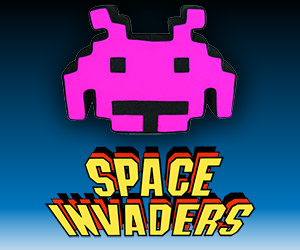 Cuddly Space Invaders Talking Purple Plush