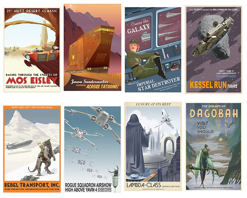 Retro-Style Star Wars Travel Posters