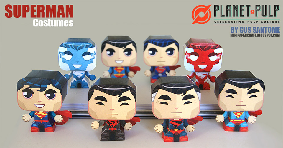 8 Fun Superman Evolution Papercraft Costumes