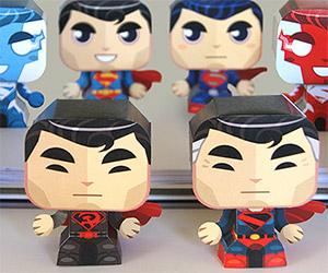 8 Fun Superman Evolution Papercraft Costumes