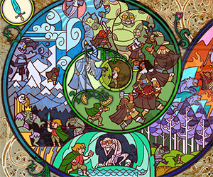 The Hobbit as Told in Stained Glass