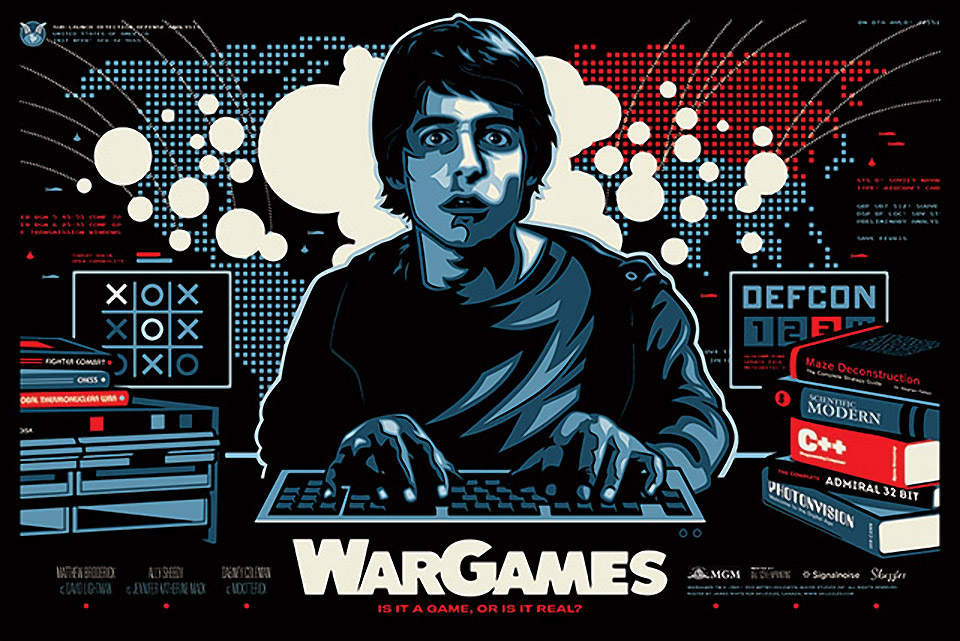 Movie Posters for the Classic 1983 Film, WarGames