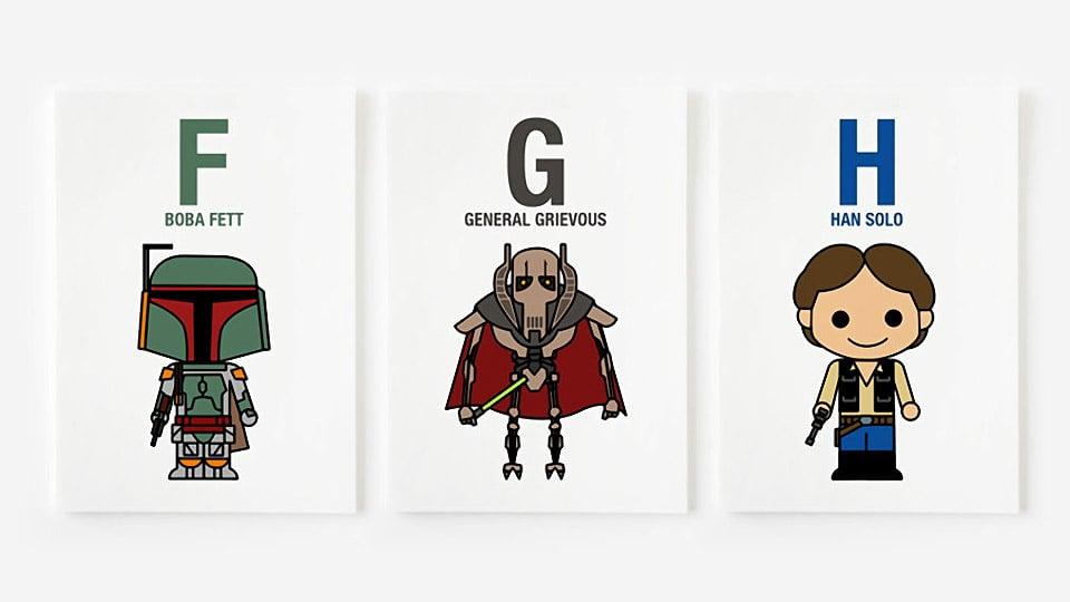"""A"" is for Ackbar: Cute Star Wars Alphabet Prints"