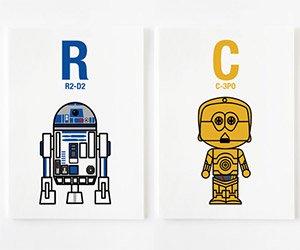 """A"" is for Ackbar: Cute Star Wars Alphabet Prints"