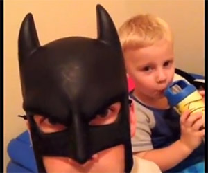 Batman is a Great Batdad, But a Little Intense
