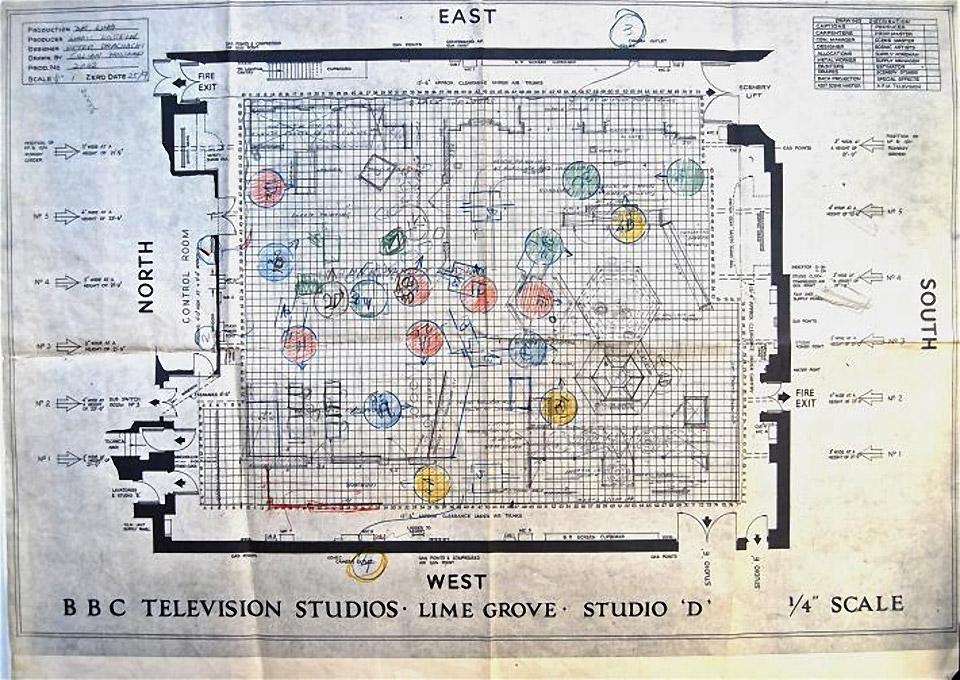 Bbc S Original Blueprints For The Tardis Set Mightymega