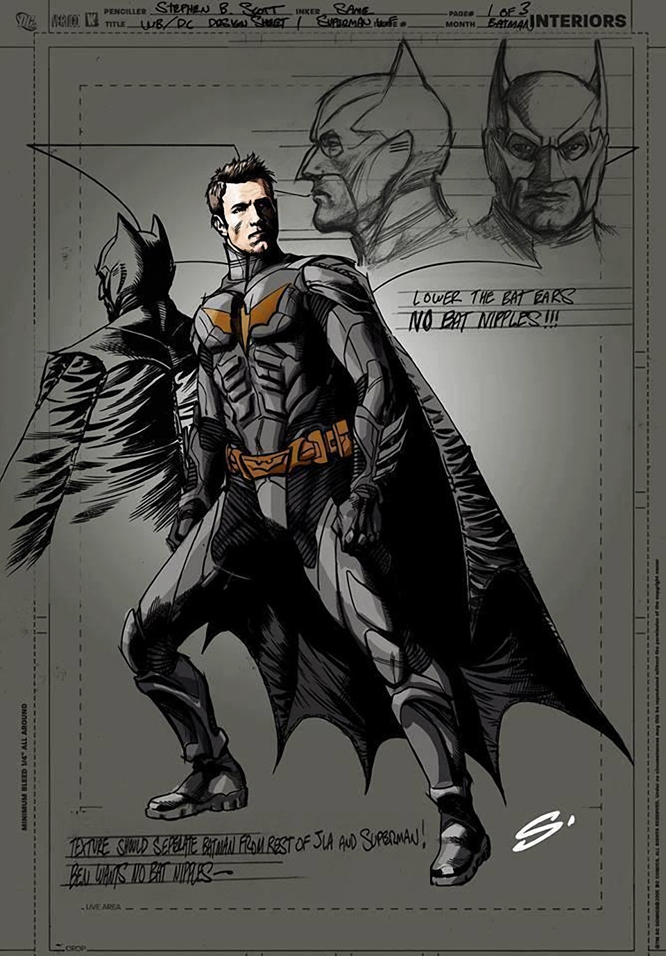 Ben Affleck as Batman: Comic Book Concept Art