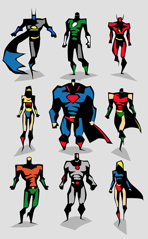 Marvel Character Design Behance : Amazing superhero character designs mightymega